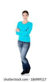 Teen girl in casual clothes