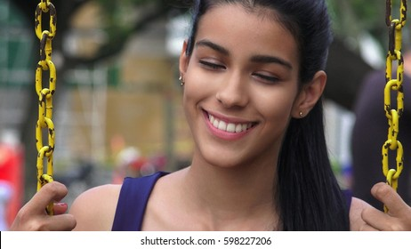 Teen Girl With Eyes Closed