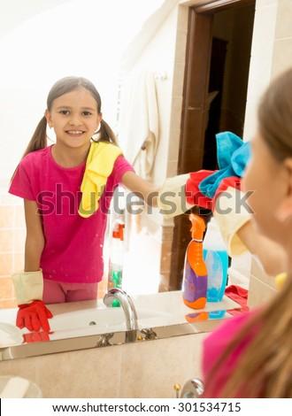 Teen girl bathroom mirror all