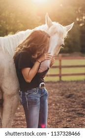 Teen girl and horse