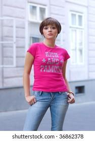 teen girl on the street