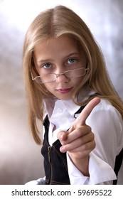 Teen girl in school uniform,
