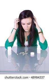 Teen Girl Taking Drugs - Teenage Drug Addiction Problem
