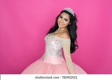 Teen girl wearing a dress for dance