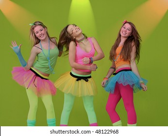 teen party dancers (SHOT ON GREEN TEXTURED WALL)