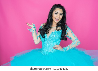Teen Woman Posing In a Fancy Dress