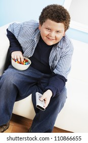 Teenage Boy Watching TV