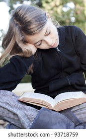 Teenage child studying