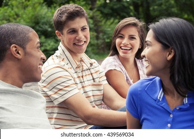 Teenage friends spending time together