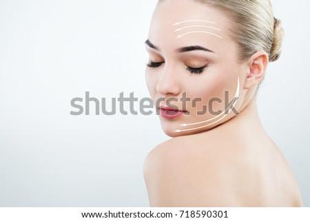 Teenage Girl Dark Eyebrows Brown Hair Stock Photo Edit Now