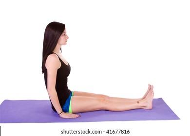 Teenage Girl doing Yoga