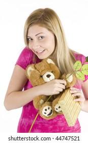 Se blond teen stuffed in