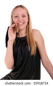 teenage girl speaking a mobile phone