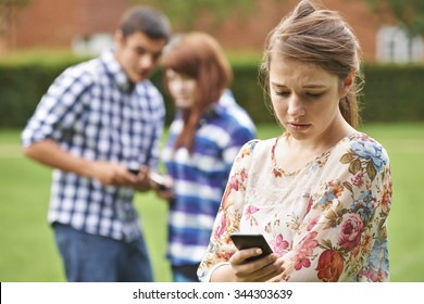 Teenage Girl Victim Of Bullying By Text Message