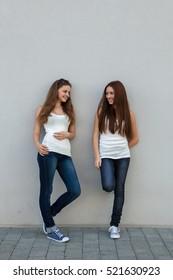 teenage girls on the street