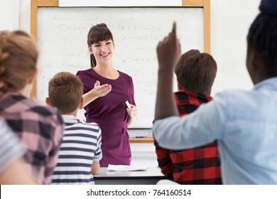 Teenage Pupil Answering Question In Class