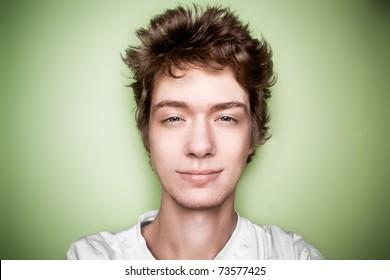 teenager closeup face