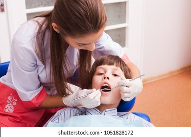 Teenager at the dental clinic