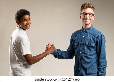 Teenager Shaking Hands Images, Stock Photos & Vectors | Shutterstock
