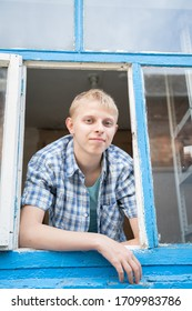 teenager looks out the window sovgo home