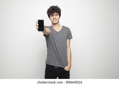 Teenager Showing Smartphone Touch Screen