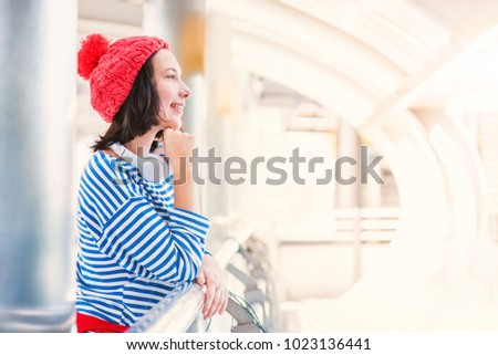 Teenager Travel City Young Tourist Girl Stock Photo (Edit Now ... 9c27fc6d4d6f