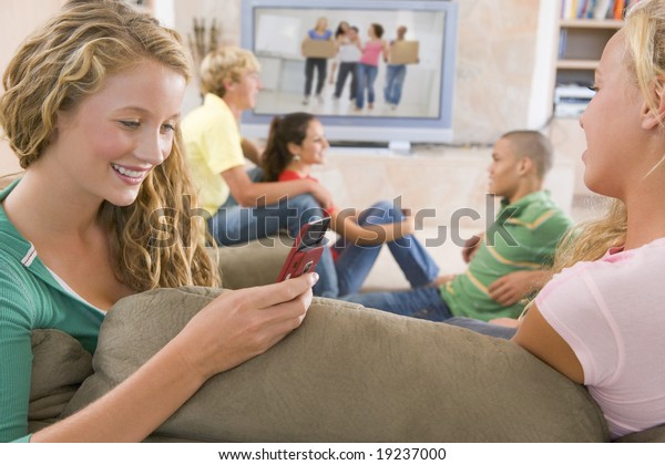Teenagers Hanging Out Together