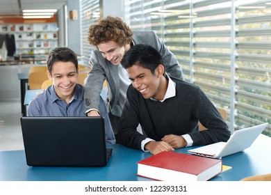 Teenagers with laptop