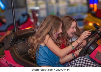 teens having fun at the fair