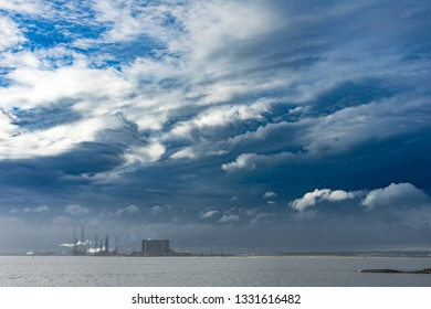 Teesside industry at the South Gare. Located on the north east coast of England.