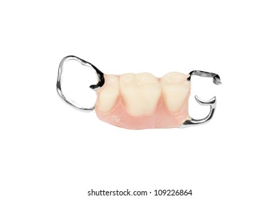 teeth prothetic isolated on the white background