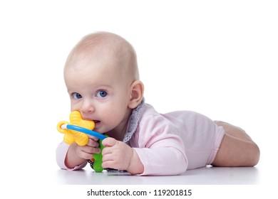 Teething baby biting toy