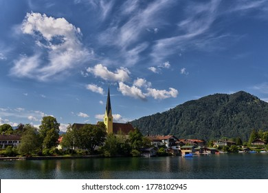 Tegernsee, Germany. Lake Tegernsee  in the Alps of Bavaria.