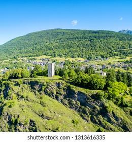 Teglio - Valtellina (IT) - Aerial view