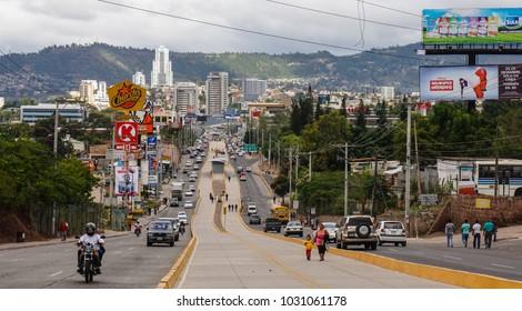 Tegucigalpa / Honduras - December 2014: streets of Tegucigalpa.