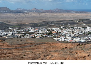 Teguise town view from Mount Guanapay, Lanzarote, Canary Islands