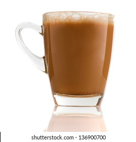 Teh Tarik , milk tea that is very popular in malaysia with morning background