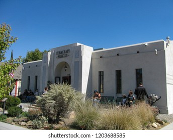 Tehachapi, California USA - October 14, 2018: The Tehachapi Museum, 1932 Art Deco style, originally a Kern County branch library, includes exhibits about native Kawaiisu culture. 310 South Green St.