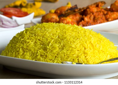 Tehar is a yellow rice cooked in Kashmiri religion for special occasions.