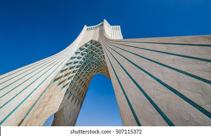 Teheran, Iran - 15th October, 2016: Azadi Tower located at Azadi Square in Tehran city