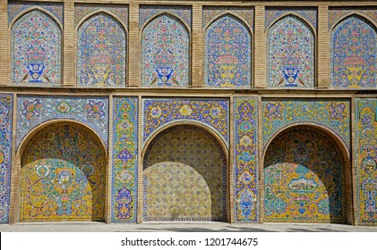 TEHERAN, IRAN - AUGUST 26: Golestan Palace 26 August, 2018 at Teheran, Iran. Golestan Palace was the seat of Qajar dynasty in Persia.
