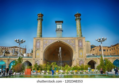 TEHERAN, IRAN - AUGUST 26: Imam Khomeini Mosque 26 August, 2018 at Teheran, Iran. Iamam Khomeini Mosque is one of the main mosques in Tehran.