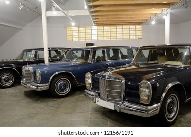 TEHERAN, IRAN - AUGUST 28: Cars of the Pahlavi rulers in Saad Abad Palace at 28, August, 2018 at Teheran, Iran.The Pahlavi were the last rulers of Persia.