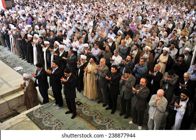 TEHERAN, IRAN - JULY 15: People praying on friday in Iran on July 15, 2011 in Teheran, Iran.
