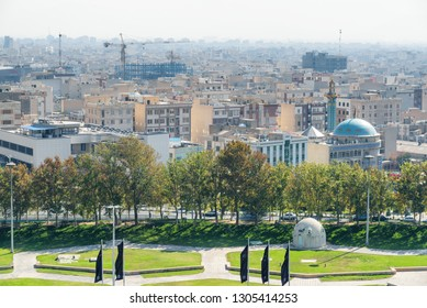 Tehran, Iran - 19 October, 2018: Scenic view of Tehran. Amazing cityscape. The capital of Iran is a popular tourist destination of the Middle East.