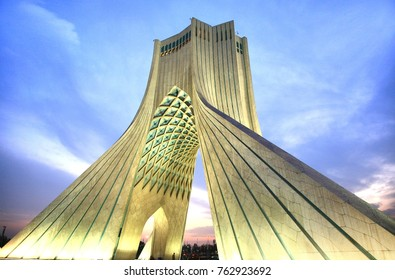 Tehran, Iran –November  6 ,2017 Azadi Tower located at Azadi Square, in Tehran, Iran