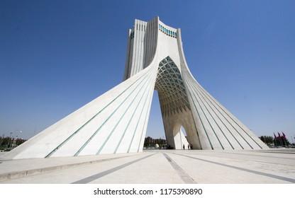 Tehran, Iran – Augustus 8, 2018: photo Azadi Tower in the Iranian capital Tehran,