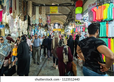 Tehran, Iran - June, 2018: Grand Bazaar in Tehran city, Iran. The Grand Bazaar is an old historical bazaar in Tehran, Iran.