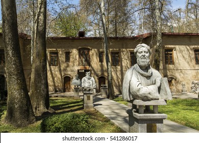 TEHRAN, IRAN â?? March 31, 2016: Omar Khayyam statue in Museum of Immanent Figures in Sadabad complex. He was a Persian polymath, scholar, mathematician, astronomer, philosopher and poet.