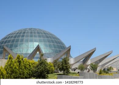 Tehran, Iran – May 27, 2014: Dome of Mina planetarium center  in Nowrooz park.